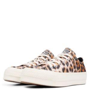 New Converse CTAS Lift Ox Platform Animal Sneakers
